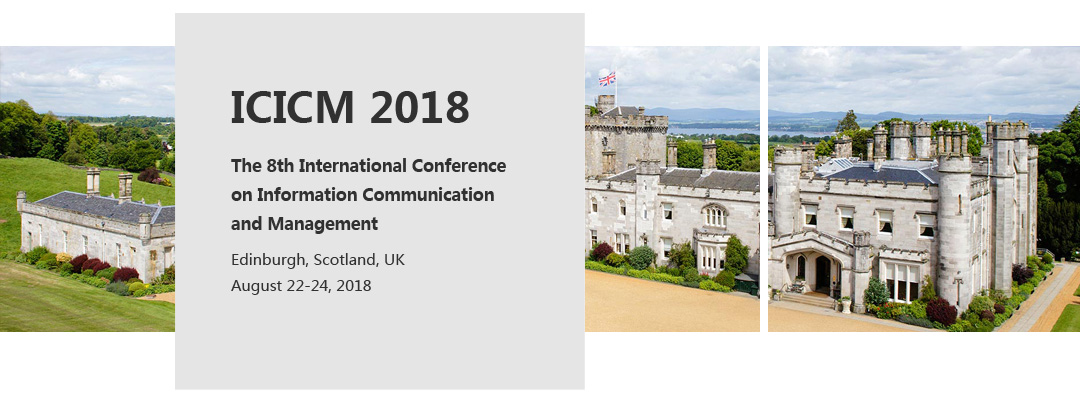 8th International conference on information communication and management (ICICM)