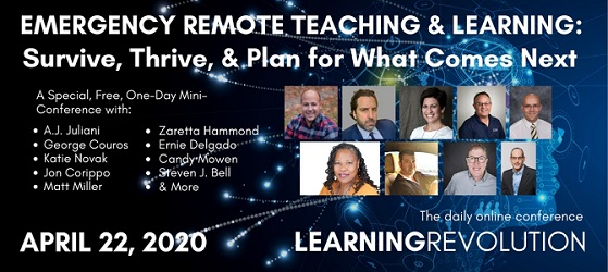 Emergency remote teaching & learning: survive, thrive, & plan for what comes next